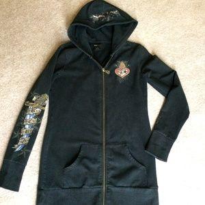 ❤ BCBG Long Hooded Sweatshirt, Size Small ❤